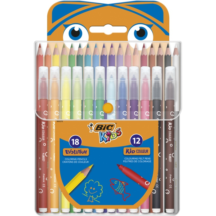 Kids Coloring kit 2 - 30 pieces i gruppen Kids / Barnepenner / Barnekritt hos Pen Store (100261)