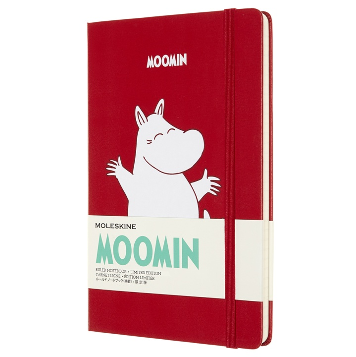 Hardcover Large Moomin Red Ruled i gruppen  Papir & Blokk / Skrive og ta notater / Notisbøker hos Pen Store (100372)