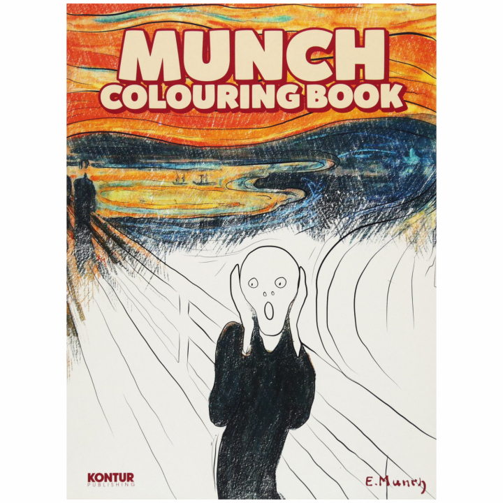 Munch Colouring Book i gruppen Hobby & Kreativitet / Bøker / Fargebøker for voksne hos Pen Store (101374)