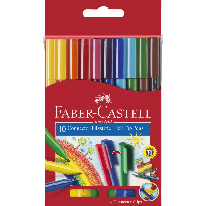 Connector Felt-tip pens - Set of 10 i gruppen Kids / Barnepenner / 3 år+ hos Pen Store (101401)