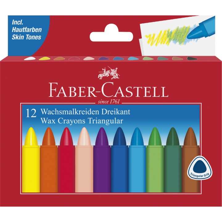 Wax Fargestifter - Set of 12 i gruppen Kids / Barnepenner / 3 år+ hos Pen Store (101416)