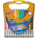 Kids Couleur Felt-tip Pens Plastic Stand Case 12-set